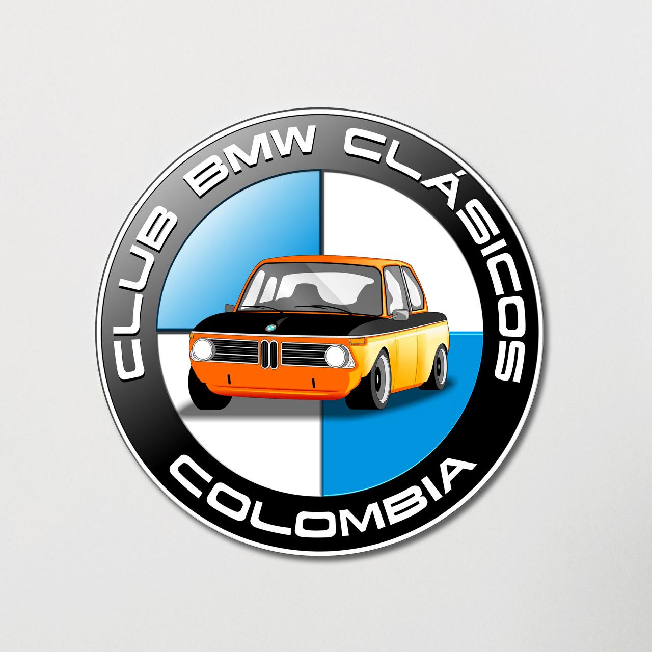 Calcomania BMW Club Vintage